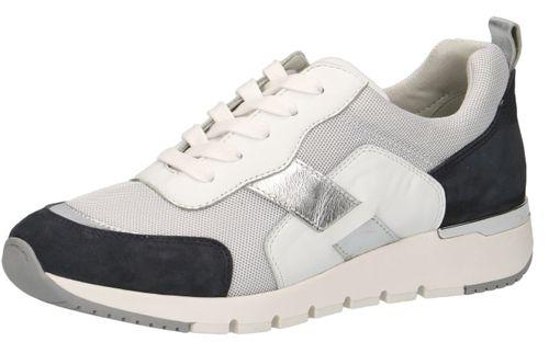 Caprice 9-23707-24 824 Damen Leder Sneaker Low Top Ocean White Weiß – Bild 1