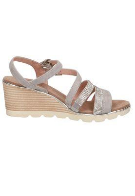 Caprice Damen Keil-Sandale Sandalette Grau 9-28709-24 228 Grey Crystal – Bild 3