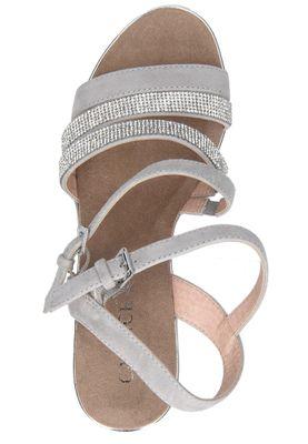 Caprice Damen Keil-Sandale Sandalette Grau 9-28709-24 228 Grey Crystal – Bild 6