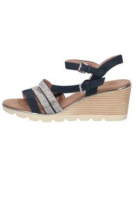 Caprice Damen Keil-Sandale Sandalette Blau 9-28709-24 828 Ocean Crystal – Bild 4