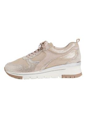 Tamaris 1-23780-24 116 Damen Champagne Comb Beige Leder Sneaker – Bild 4