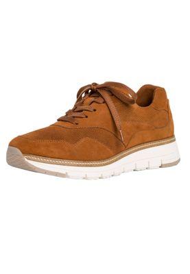 Tamaris 1-23783-24 450 Damen Nut Suede Braun Leder Sneaker – Bild 2