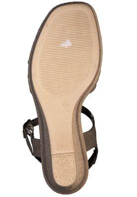 Marco Tozzi Damen Keil-Sandale Leder Grau Taupe Comb. 2-2-28346-24 344 – Bild 5