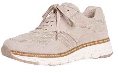 Tamaris 1-23783-24 422 Damen Cashmere Suede Grau Leder Sneaker – Bild 1