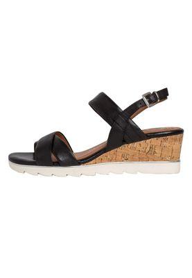Marco Tozzi Damen Keil-Sandale Leder Schwarz Black 2-2-28724-24 001 – Bild 4