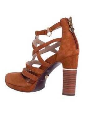 Tamaris 1-24408-24 305 Damen Cognac Braun High-Heel Leder Pumps – Bild 6