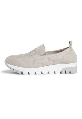 Tamaris 1-24709-24 204 Damen Light Grey Grau Leder Sneaker Slipper – Bild 5
