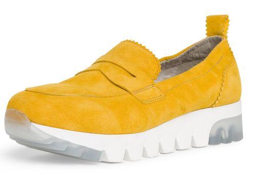 Tamaris 1-24709-24 602 Damen Sun Gelb Leder Sneaker Slipper – Bild 1