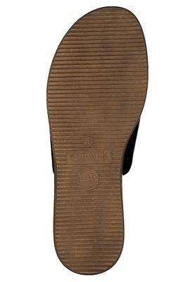 Tamaris 1-27236-34 003 Damen Black Leather Schwarz Leder Pantolette Badeschuhe – Bild 4