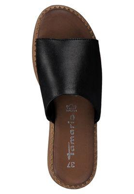 Tamaris 1-27236-34 003 Damen Black Leather Schwarz Leder Pantolette Badeschuhe – Bild 5
