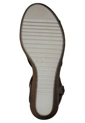 Tamaris 1-28341-24 804 Damen Navy Cognac Blau Wedge Platform Sandals Sandaletten – Bild 4