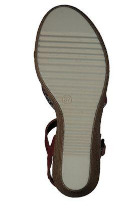Tamaris 1-28341-24 597 Damen Red Comb Rot Wedge Platform Sandals Sandaletten – Bild 4