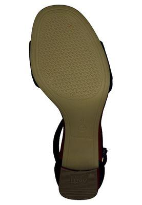 Tamaris 1-28379-24 040 Damen Black Suede Comb Schwarz Sandaletten Ankle Cuff Sandale mit TOUCH-IT Sohle – Bild 4