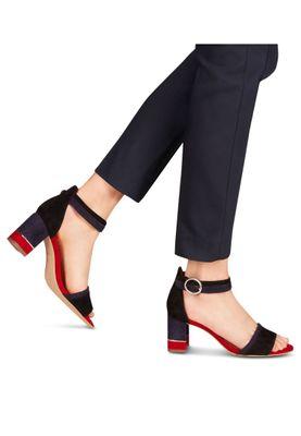 Tamaris 1-28379-24 040 Damen Black Suede Comb Schwarz Sandaletten Ankle Cuff Sandale mit TOUCH-IT Sohle – Bild 6