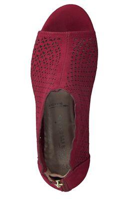 Tamaris 1-28381-24 515 Damen Lipstick Rot High Heeled Sandale Sandalette – Bild 6