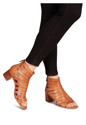 Tamaris 1-28394-24 305 Damen Cognac Braun Heeled Sandals Sandaletten mit TOUCH-IT Sohle – Bild 4