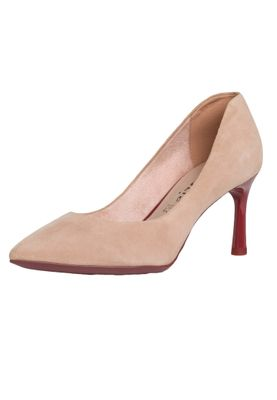 Tamaris 1-22409-24 528 Damen Rose Ruby Rosa High-Heel Leder Pumps mit TOUCH-IT Sohle – Bild 1