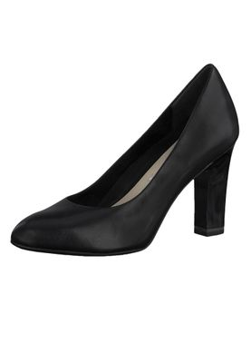 Tamaris 1-22417-24 001 Damen Black Schwarz High-Heel Leder Pumps – Bild 1