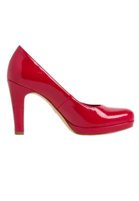 Tamaris 1-22426-24 520 Damen Chili Patent Rot Plateau Pumps High-Heel mit TOUCH-IT Sohle – Bild 3