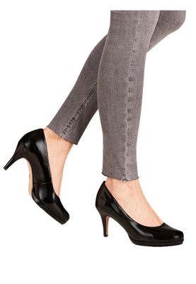 Tamaris 1-22444-24 018 Damen Black Patent Schwarz Pumps mit TOUCH-IT Sohle – Bild 3