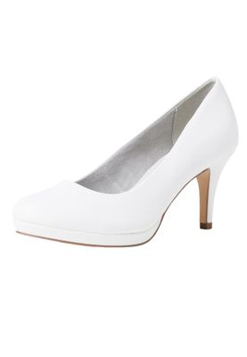 Tamaris 1-22444-24 140 Damen White Matt Weiss Pumps mit TOUCH-IT Sohle – Bild 1