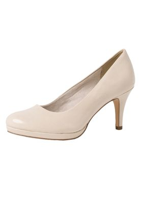 Tamaris 1-22444-24 451 Damen Cream Patent Beige Pumps mit TOUCH-IT Sohle – Bild 1