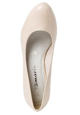 Tamaris 1-22444-24 451 Damen Cream Patent Beige Pumps mit TOUCH-IT Sohle – Bild 5