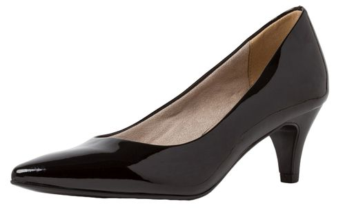 Tamaris 1-22495-34 018 Damen Black Patent Schwarz Pumps mit TOUCH-IT Sohle – Bild 1