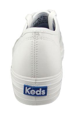 Keds Schuhe Damen Sneaker WH55748 Triple CVO Core Leather Leder Weiss White  – Bild 3
