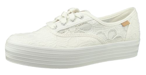 Keds Schuhe Damen Sneaker WF62076 Triple CVO Festival Floral Cream Weiss  – Bild 1