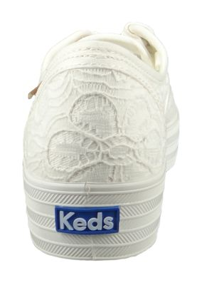 Keds Schuhe Damen Sneaker WF62076 Triple CVO Festival Floral Cream Weiss  – Bild 4