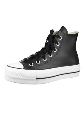 Converse Chucks Plateau Schwarz 561675C Chuck Taylor All Star LIFT - OX Black/Black/White – Bild 1