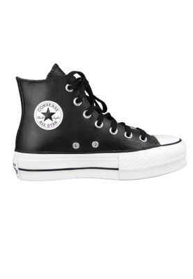 Converse Chucks Plateau Schwarz 561675C Chuck Taylor All Star LIFT - OX Black/Black/White – Bild 3