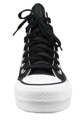 Converse Chucks Plateau Schwarz 561675C Chuck Taylor All Star LIFT - OX Black/Black/White – Bild 2
