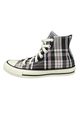 Converse Damenschuhe-Sneaker 568896C Chuck Taylor All Star HI Textil grau Black White Egret – Bild 4