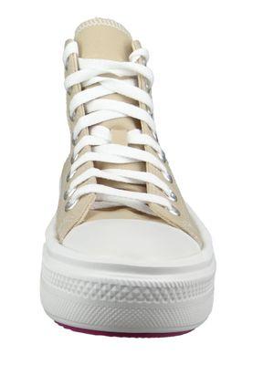 Converse Damenschuhe-Sneaker 568794C Chuck Taylor All Star Move HI Textil beige Farro Cactus Flower – Bild 7