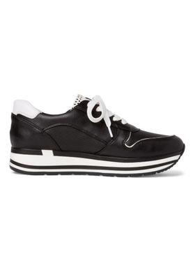 Marco Tozzi Damenschuhe-Sneaker 2-2-23717-34 Low-Top Hochwertiges Lederimitat schwarz 098 Black Comb – Bild 3