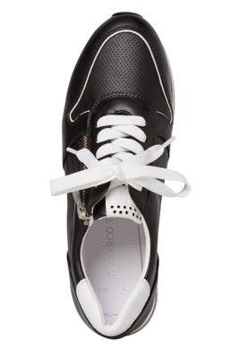 Marco Tozzi Damenschuhe-Sneaker 2-2-23717-34 Low-Top Hochwertiges Lederimitat schwarz 098 Black Comb – Bild 4