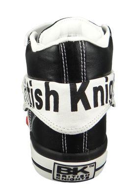 British Knights Roco B46-3706-03 Damen Sneaker High Kunstleder Schwarz Black White – Bild 4