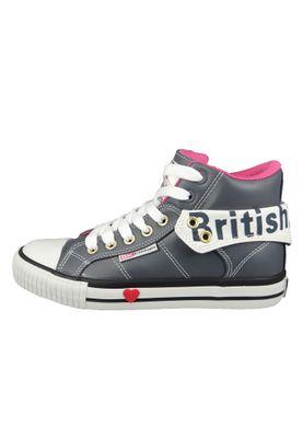 British Knights Roco B46-3701-01 Damen Sneaker High Kunstleder Schwarz DK Grey Fuchsia – Bild 3
