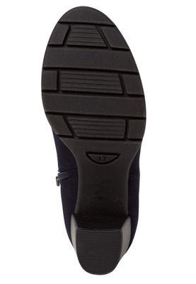 Marco Tozzi  2-25355-34 Damen Stiefelette Elegant Textil Blau 840 Dk. Navy – Bild 4
