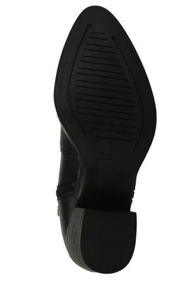 Marco Tozzi by GMK Guido Maria Kretschmer 2-2-85301-25 Damen Stiefelette Elegant Leder Schwarz 002 BLACK ANTIC – Bild 3
