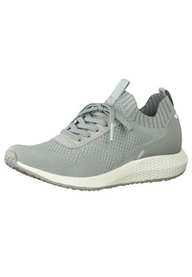 Tamaris Damen Low Sneaker Fashletics 1-23714-25 Grau 240 STEEL GREY Textil/Synthetik mit Removable Sock – Bild 1