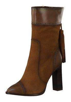 Tamaris Damen Elegante Stiefel 1-25303-25 Braun 306 BRANDY Leder A.slide/A.shokk Absatz – Bild 1
