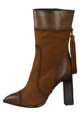 Tamaris Damen Elegante Stiefel 1-25303-25 Braun 306 BRANDY Leder A.slide/A.shokk Absatz – Bild 2