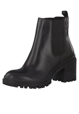 Tamaris Damen Elegante Stiefelette 1-25417-25 Schwarz 001 BLACK Leder mit Removable Sock – Bild 2