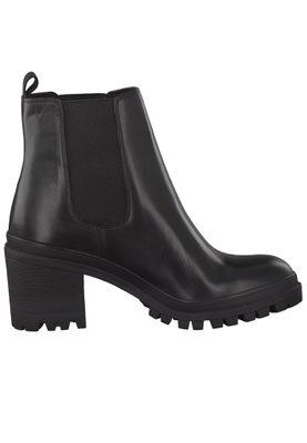 Tamaris Damen Elegante Stiefelette 1-25417-25 Schwarz 001 BLACK Leder mit Removable Sock – Bild 3