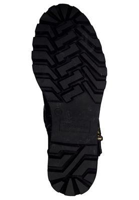 Tamaris Damen Elegante Stiefelette 1-25427-25 Schwarz 063 BLK BRUSH/GOLD  mit TOUCH-IT – Bild 5