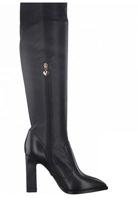 Tamaris Damen Elegante Stiefel 1-25503-25 Schwarz 001 BLACK Leder/Synthetik A.slide/A.shokk Absatz – Bild 2