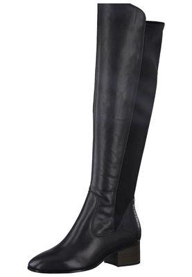 Tamaris Damen Elegante Stiefel 1-25518-25 Schwarz 001 BLACK Leder/Synthetik mit TOUCH-IT & A.slide/A.shokk Absatz – Bild 1